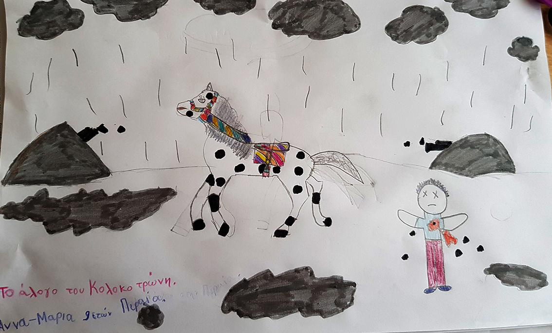 Μαρια ΤΣ.το Αλογο του Κολοκοτρωνη